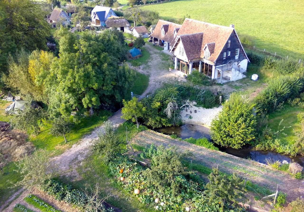 The farm from above
